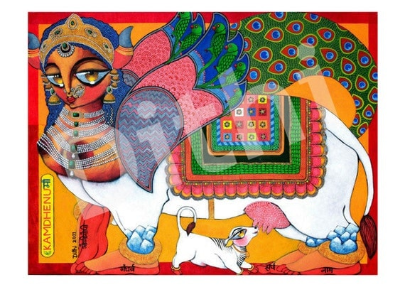 Kamdhenu the wish granting Goddess PRINT
