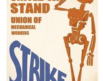 Union of Mechanical Workers STRIKE - 8.5 X 11 PRINT