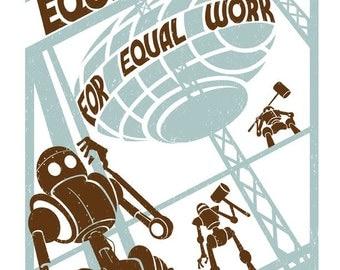 Equal Pay for Equal Work - 8.5X11 Print