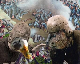 Oregon Civil War: Ducks vs. Beavers - 11x14 College Football Art Print