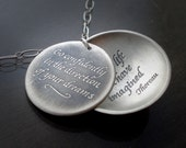 RESERVED for  Konkie: Thoreau Necklace