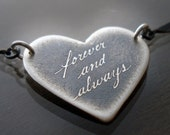 Etched Forever and Always Necklace