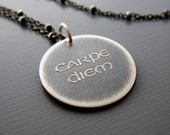Carpe Diem Necklace - Inspirational Quote Pendant