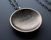 Sterling Silver Rumi Necklace - Inspirational Quote Pendant
