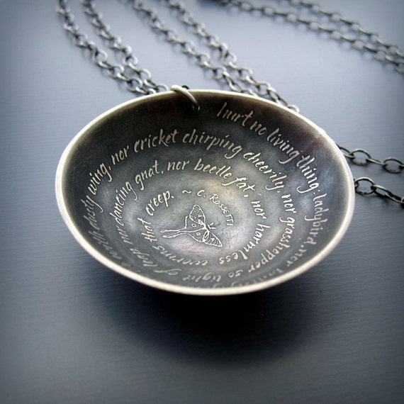Hurt No Living Thing : Inspirational Quote Necklace