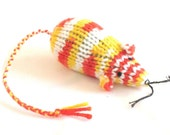 Knit Catnip Mouse Cat Toy is like a Koi Fish