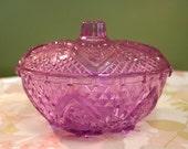 Vintage Purple Glass Dish