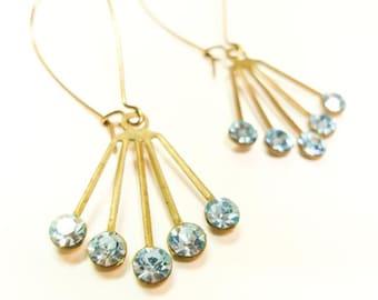 Shades of  Blue Sparkle Lempicka Earrings