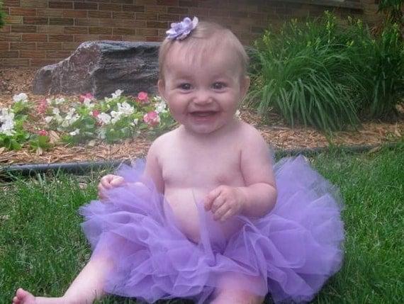 Lavender Baby/Infant Cute Custom Boutique Sewn Tutu 0-24m - July Sale