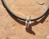 "The ""I LOVE YOU"" ASL American Sign Language charm choker"