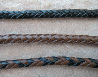 Hand Braided Leather Cord, 8 strand