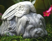 Dog Angel Statues - Dog Memorials - Shih Tsu, Lhasa Apso, Maltese, Terrier