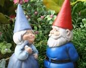 Garden Gnomes Couple - Concrete Fairy Garden Art