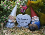 Gnomes Cake Topper - Customized 3 Piece Set for Wedding