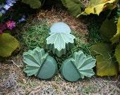 Plant Pot Risers Leaf Design Concrete Garden Planter Feet