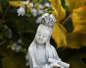 Kuan Yin - Kwan Yin Concrete Garden Statue - Holding the Scroll of Dharma - The Law of Being