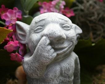 Handmade Troll Statue - Meet Nucky The Nosepicker