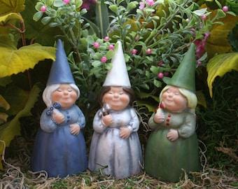 Garden Gnomes, Custom Girl Lady Female Woman Yard Gnome