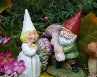 Garden Gnomes - Wedding Cake Topper - Miniature Gnomes for Sale