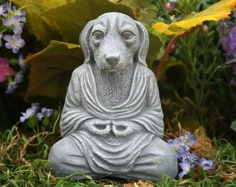 "Dog Buddha ""Meditating Mongrel""  Zen Garden Statue"