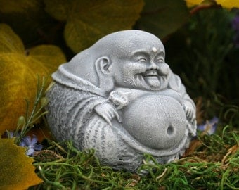 Small Buddha - Statue, Fat, Laughing, Zen Master, Garden Decor