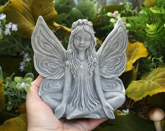 Zen Art -- Fairy Statue -- Yoga In The Enchanted Garden