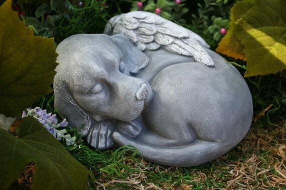 Dog Angel Statue Beautiful Pet Memorial Garden Sculpture