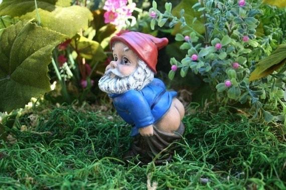 Marvelous Mooning Gnome Funny Rude Custom Garden Gnome