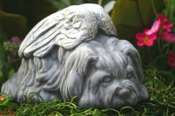 Dog Angel Statues - Dog Memorials - Shih Tsu, Lhasa Apso, Maltese, Terrier