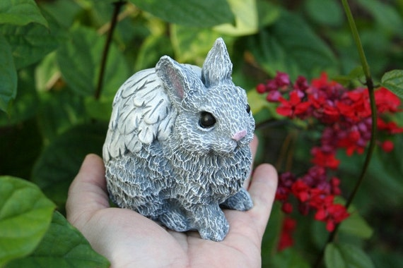 Angel Bunny Rabbit Angels Animal Garden Statues