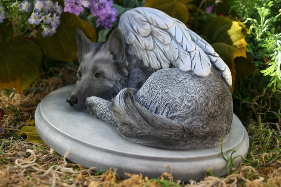 German Shepherd Angel Dog Statue Forever My By Phenomegnome