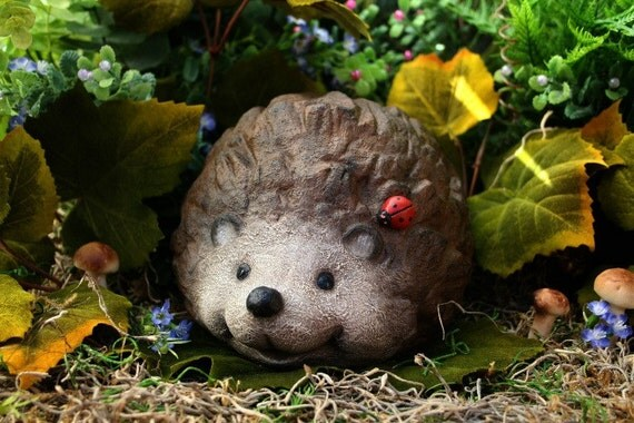 Hedgehog Statue Concrete Garden Sculpture Outdoor Decor