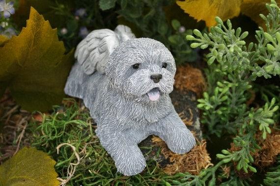 Dog Angel Statues Dog Memorials Mixed Breed Terrier Shih