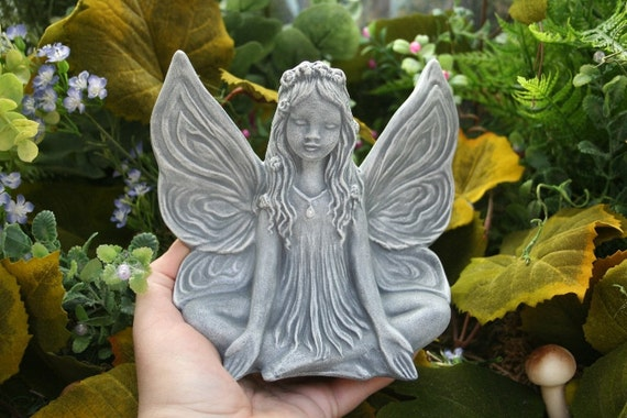 Fairy Statue -- Meditation In The Enchanted Garden
