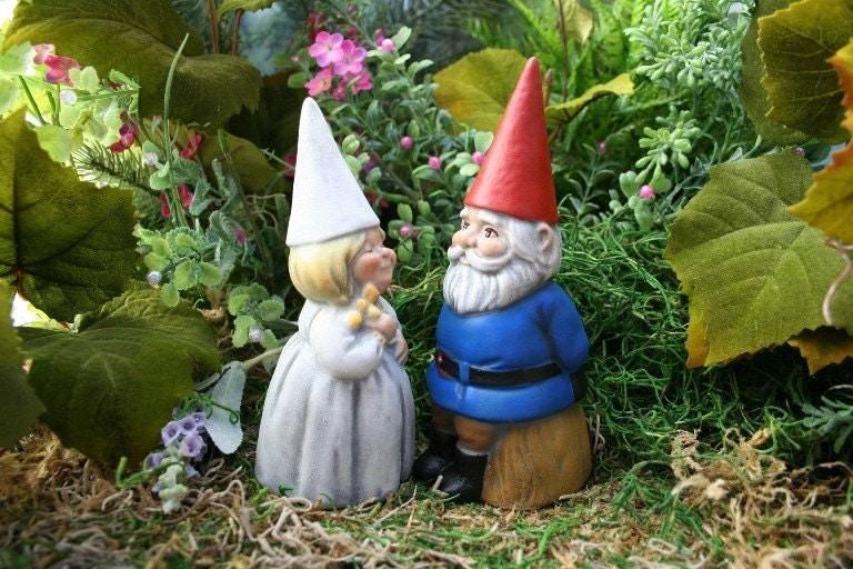 Wedding Cake Topper Gnome