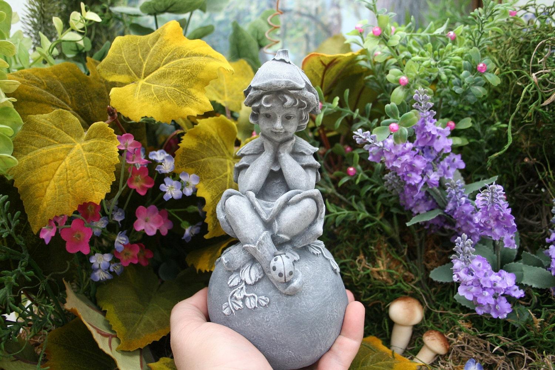 garden fairy pixie boy statue