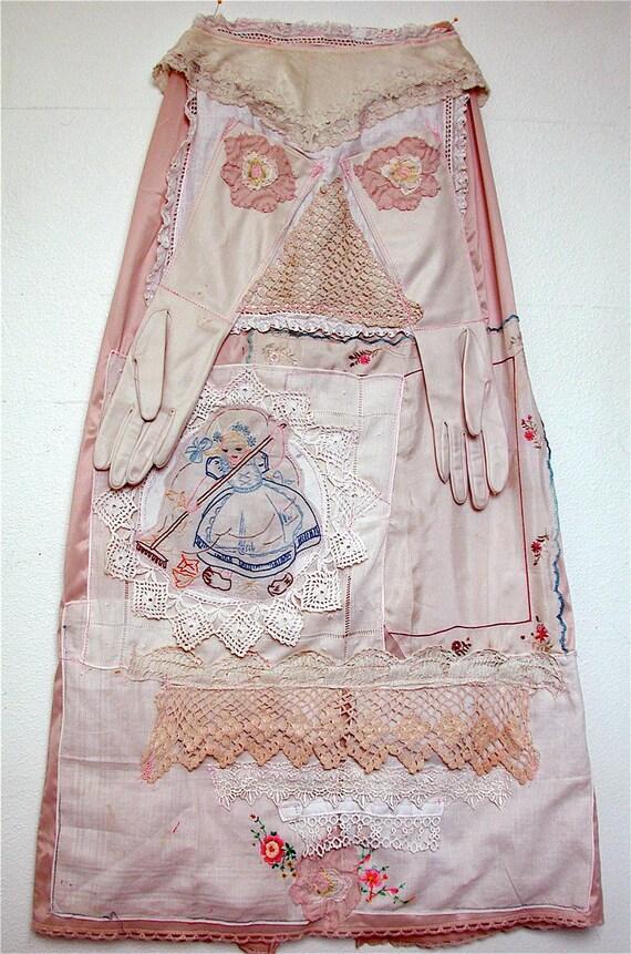 Vintage Maxi SLIP Repurposed into SKIRT Vintage Linens