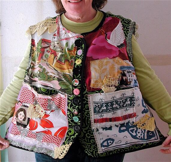 Plus Size Wearable Art Tunic Ethnic Eclectic