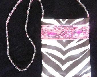 SmartBag, Pink Paisley Zebra, Sequinned