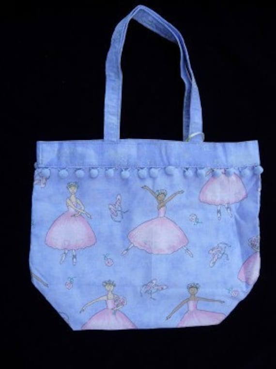 Ballet Tote, Lilac,  Ballerina Dance Bag, cotton