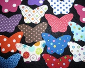 10 dotted butterfly fabric applique