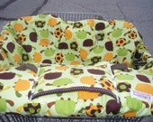 Shopping cart cover for boy or girl URBAN ZOOLOGIE TURTLES........ Shopping Cart Cover