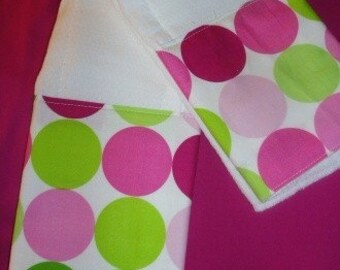 Boutique Burp Cloth sets......SORBET DOTS Baby Boutique Burp Cloth Set