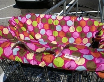 Boutique Shopping Cart Cover ENCHANTED FOREST Shopping Cart Cover