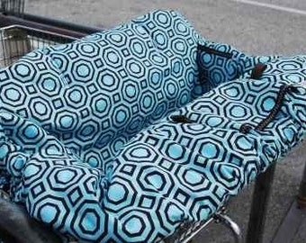 Shopping cart Cover HOLLYWOOD TURQUOISE Shopping Cart Cover