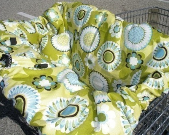 DAISY POP LIME Shopping Cart Cover