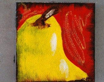 Magnet PEAR small original painting