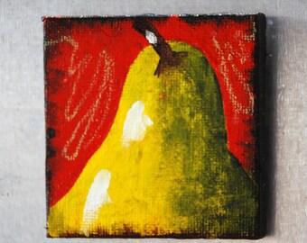 Magnet Pear original painting