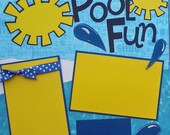 Pool Fun Premade Scrapbook Pages 12x12