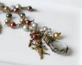 Tutto Elegante No. 4 Vintage Inspired Pearl & Crystal Necklace